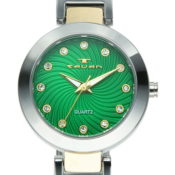 Tavan Women's Siren Austrian Crystal Accented Dial Watch