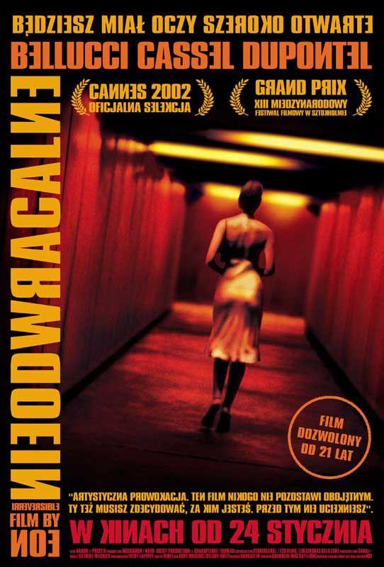 """""""Una historia de violencia y sexo contada en orden cronológico inverso: cruda, polémica, excéntrica, vertiginosa, sensual, brutal. Sea que les guste o no, lo cierto es que esta película contiene escenas imposibles de pasar inadvertidas, y que generan sensaciones que van más allá de cualquier adjetivo.""""  Francesa"""