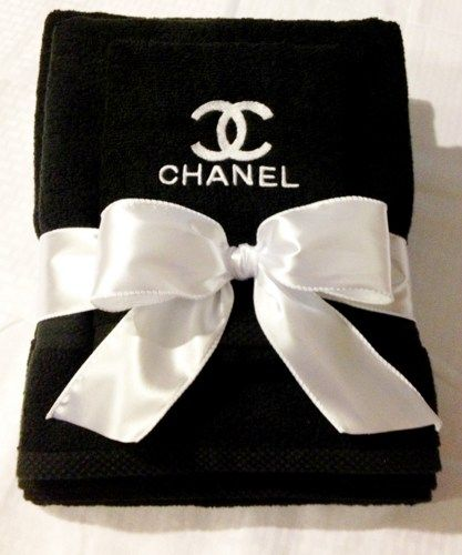 Chanel Inspired Decor White 2 Pc. Bath and Hand Towel Gift Set ...