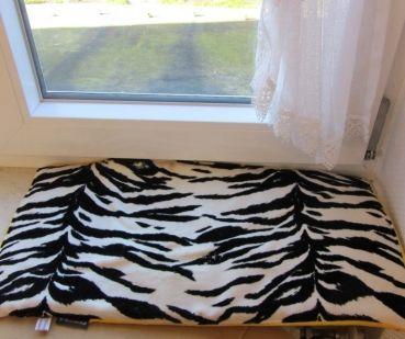 Fensterbankunterlage Zebraoptik dick warm 55x29