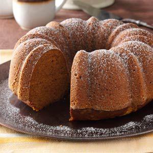 Moist Pumpkin Bundt Cake Recipe from Taste of Home