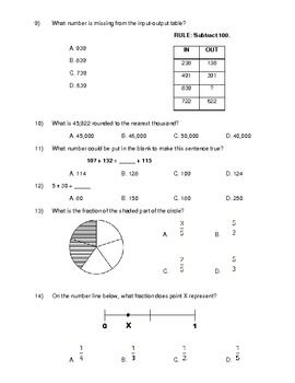 Printables 3rd Grade Math Test 3rd grade common core math benchmark test the ojays test