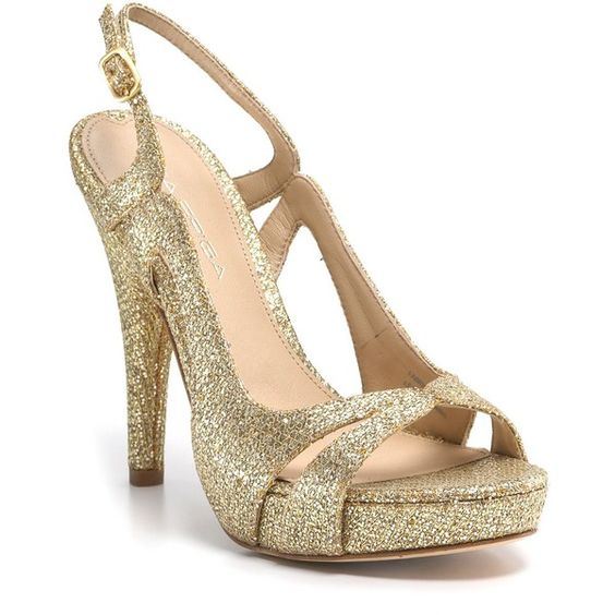 Via Spiga Sandals - Adrianna Sparkle ($99) ❤ liked on Polyvore featuring shoes, sandals, women, sparkle shoes, cutout sandals, leather sole shoes, cut out sandals et high heel shoes
