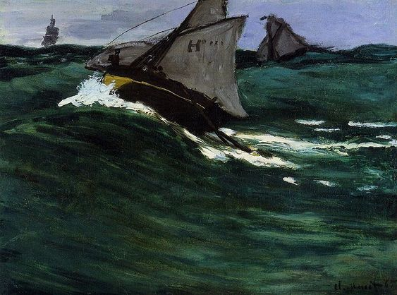 """""""The Green Wave"""" by Claude Monet (c. 1867)"""