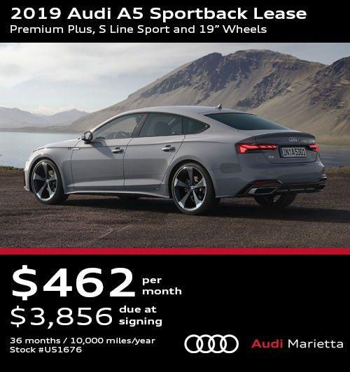 2019 Audi A5 Sportback Lease Premium Plus S Line Sport And 19 Wheels Audi A5 Sportback Audi Audi A5