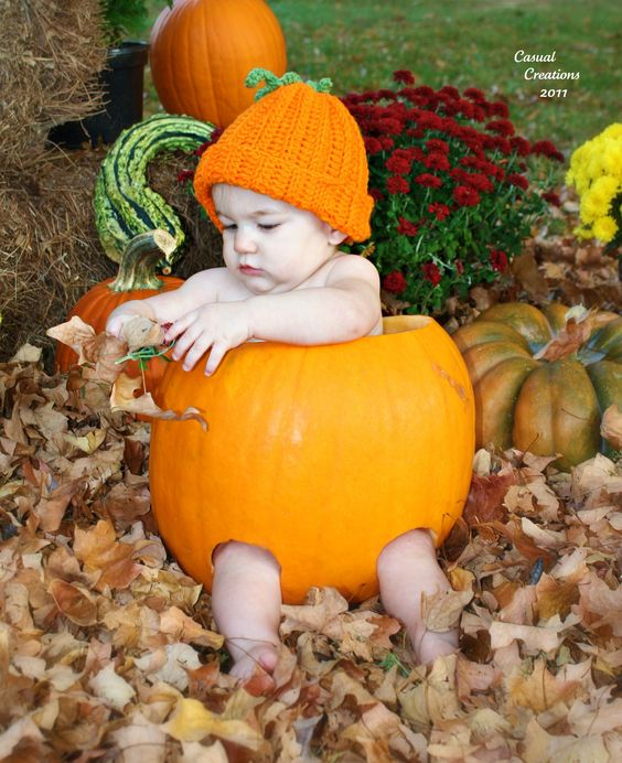 Our sweet baby, Alli... My 1st attempt at 'the pumpkin' photo! Turned out pretty cute! :p