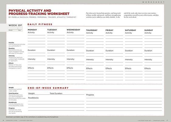 Fitness Worksheet Free Worksheets Library – Fitness Worksheets