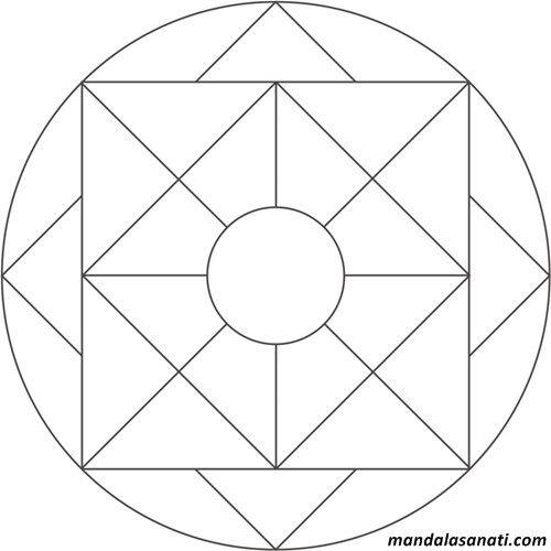 Okul Oncesi Mandala Boyama Mozaik Mandala Boyama Sayfalari Mandala