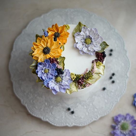이렇게나 좋은데  #플라워케이크 #플라워케익 #버터크림플라워케이크 #koreanflowercake #flowercake #buttercream…
