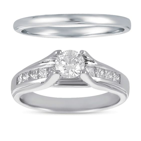 $599.95 for 0.50ct Solitaire SI2-I1 Diamond Round 14k White Gold Bridal Ring Wedding Band with certificate!