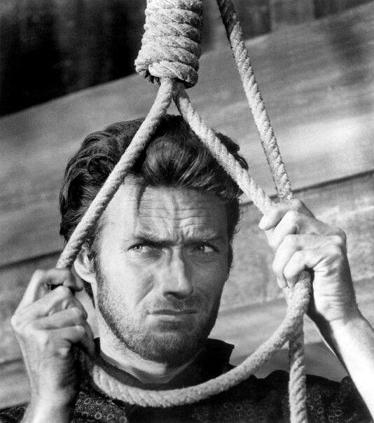 Man, black-white, rope