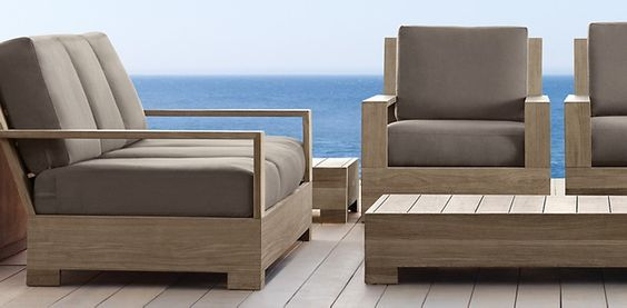 Teak hardware and inspiration on pinterest for Restoration hardware teak outdoor furniture