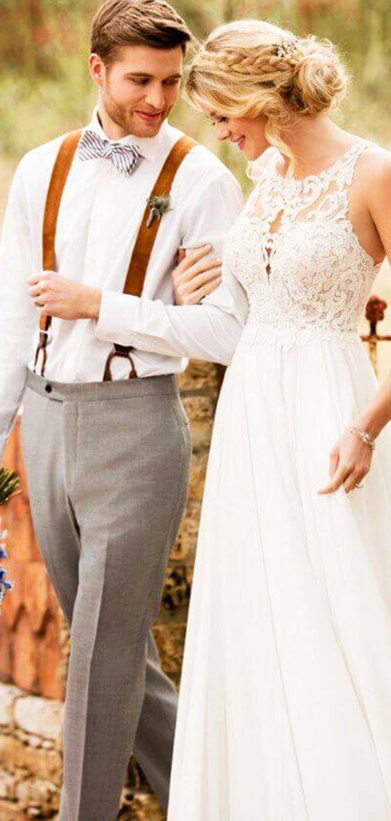 Luftig Leicht Locker Lassig Das Brautkleid Von Essense Of Australia Stil D2371 Ist Ein Boho Tra Neckholder Brautkleid Hochzeitskleid Neckholder Brautkleid