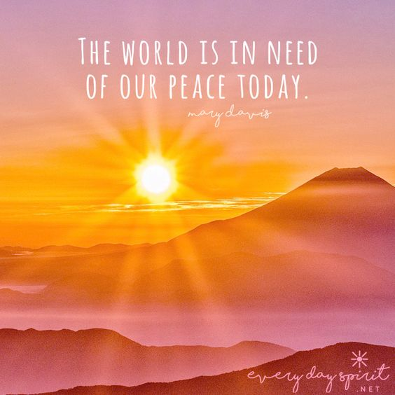 Spread peace & love. xo Get the app of beautiful wallpapers at ~ www.everydayspirit.net xo #peace #world peace #peace and love