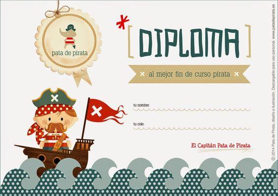 Ilustración, orlas, Invitaciones bautizo, comunión, cumpleaños, diseño grafico: Manualidades pirata