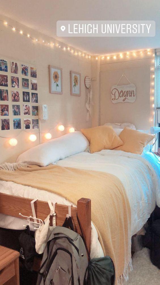 P I N T E R E S T Jacquerosee Dorm Room Designs College Bedroom Decor College Dorm Room Decor