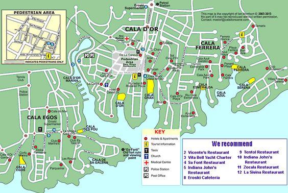 map of cala d'or mallorca