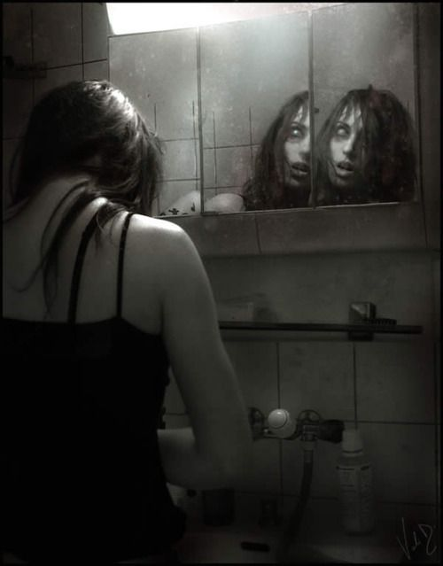 eerie | spooky | scary | mirror mirror on the wall | nightmare | reflection…