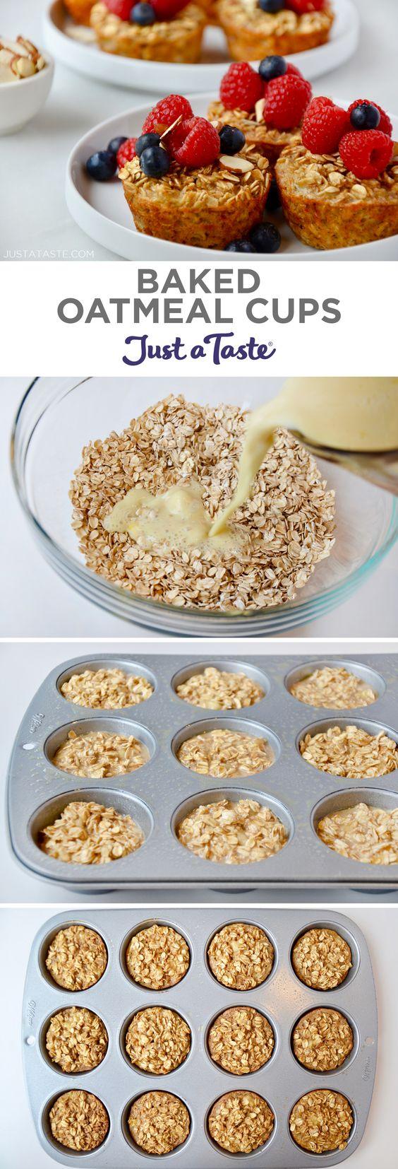 Baked Oatmeal Cups (Freezer-Friendly)