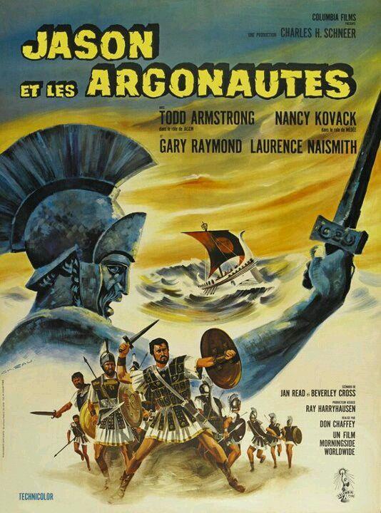 "A movie poster of Ray Harryhausen's 1963 Classic, "" JASON & THE ARGONAUTS """