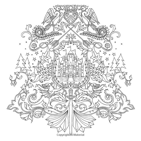 Enchanted Forest Coloring Pages Pdf : Enchanted forest an inky quest coloring book johanna