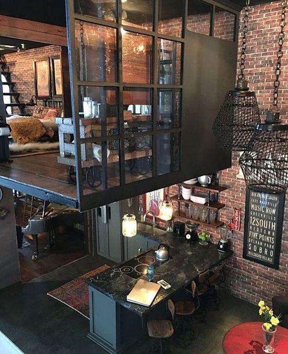 лофт в дизайне ресторана