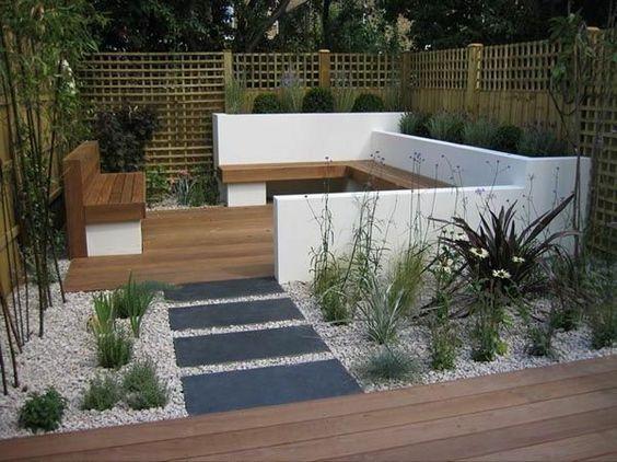 Holzterrasse mit Wasserbecken 75 Quadratmeter Pinterest - terrassengestaltung mit wasserbecken