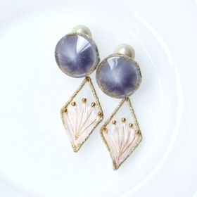 ピアス/イヤリング「VINTAGE BUTTON PIERCE/EARRING」(P/P)