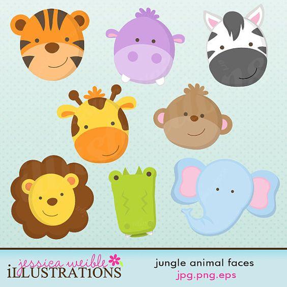 free baby jungle animals clipart - photo #49