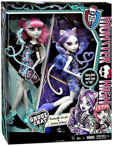 Monster High GHOUL CHAT Exclusive 2-PACK - Rochelle Goyle & Catrine DeMew: Amazon.co.uk: Toys & Games
