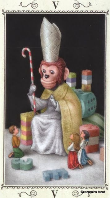 V. The Hierophant - Nicoletta Ceccoli Tarot by Nicoletta Ceccoli