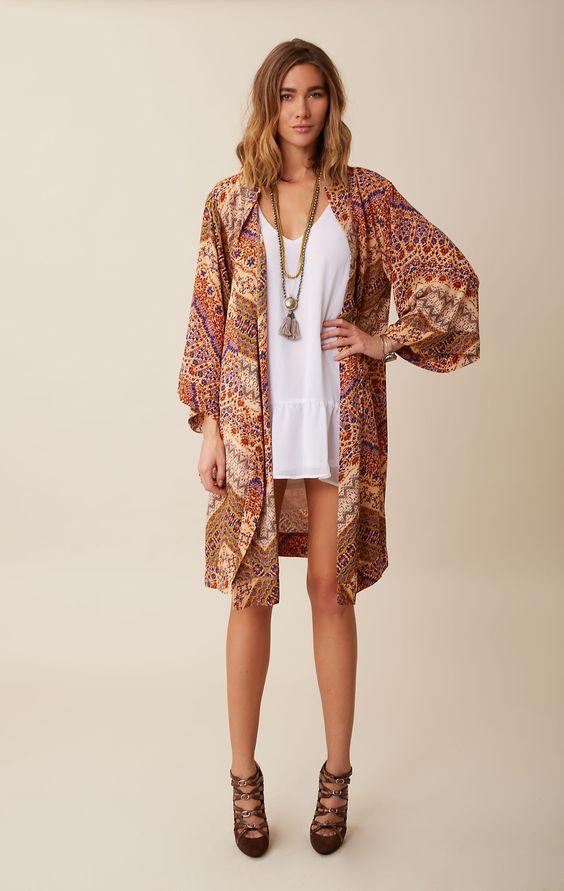 topanga long kimono // blu moon #planetblue #blumoon #kimono