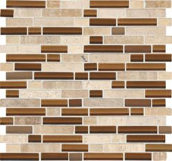 backsplash mohawk phase mosaics stone and glass wall tile 5 8