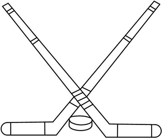 Hockey sticks & puck pattern
