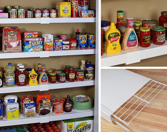 Easy DIY kitchen renovation – give your wire pantry shelves a custom, built-in pantry look.