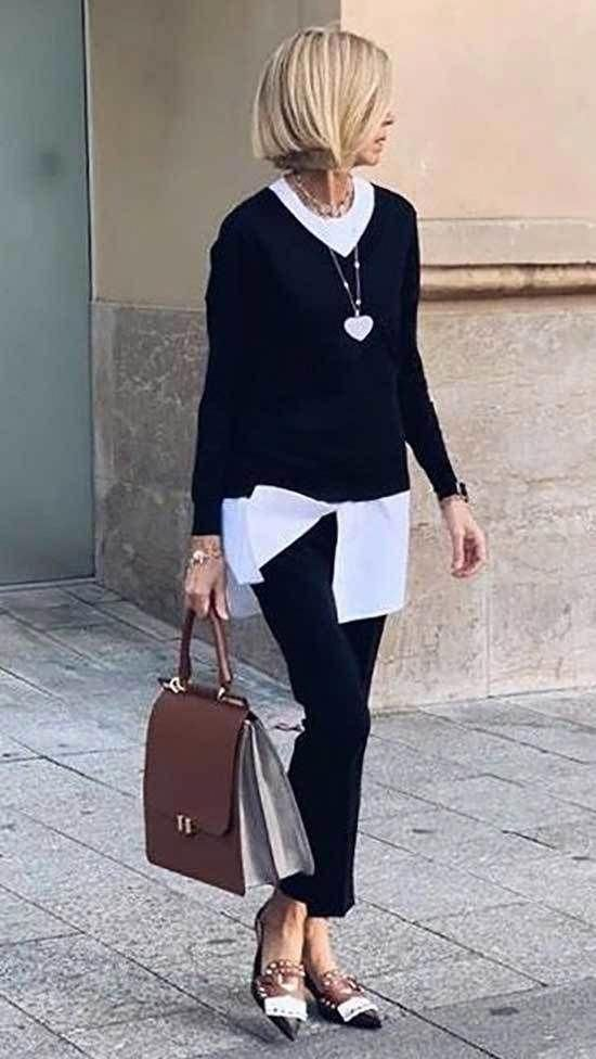 Minimalist And Casual Outfit For 50 Year Old Woman Womensfashion40yearoldover40over40 In 2020 Clothes For Women Over 50 Fashion Business Casual Outfits