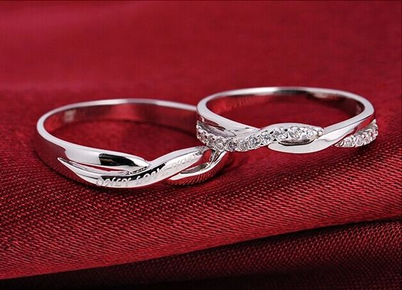 2pcs free engrave platinum infinity infinity ring