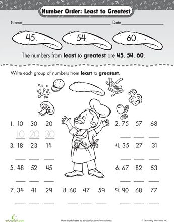math worksheet : number order least to greatest  worksheets numbers and articles : Ordering Decimals From Least To Greatest Worksheet