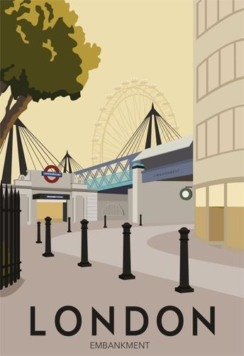 London Embankment. The Underground station needed for Gordon's Wine Bar!