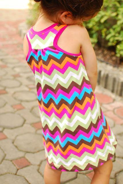 Girls racerback dress with free pattern