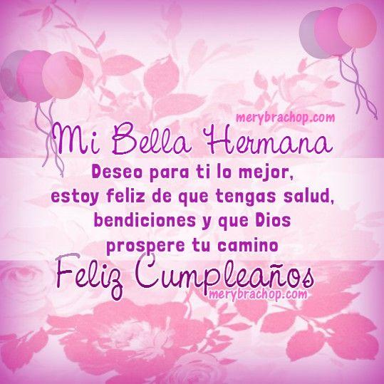 Tarjetas Cristianas de Feliz Cumpleaños para Hermana con frases bonitas y bellas Imágenes | Entre Poemas y Vivencias