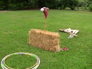 Fun cowboy party or VBS game!  Lasso the hobby horse.
