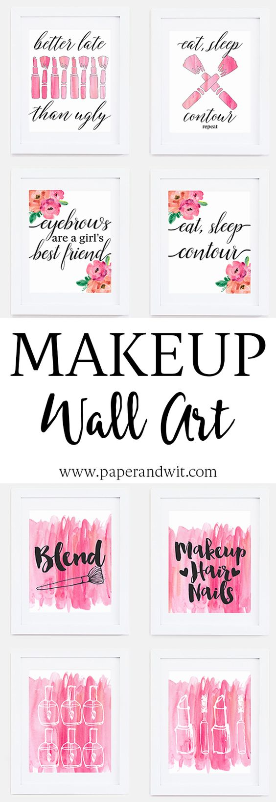 Makeup Wall Art The Perfect Finishing Touch To Your