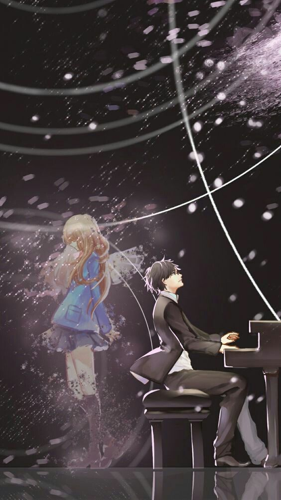 Wallpaper Still Watching Over You Shigatsu Wa Kimi No Uso Darksideanime Picturem Your Lie In April Lie In April Shigatsu Wa Kimi No Uso Wallpapers Anime wallpaper watching you from other