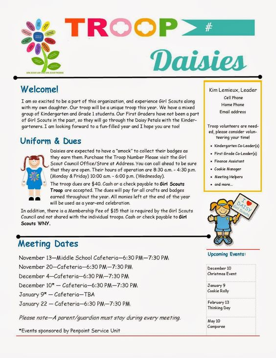 parent newsletter example