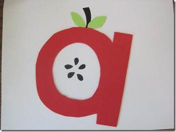 LETTER A FOR APPLE