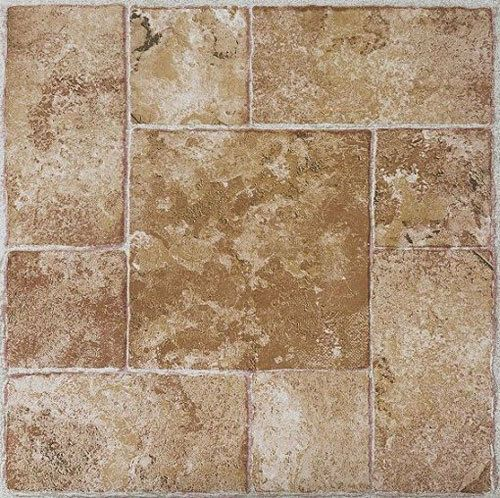Details About Beige Terracotta Stone Self Stick Adhesive Vinyl Floor Tiles 40 Pieces 12x12 In 2020 Tile Floor Vinyl Flooring Stick On Tiles