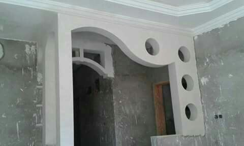 Pin By Abdo Sam On أقواس جبص House Ceiling Design Door Design Interior Small House Design Architecture