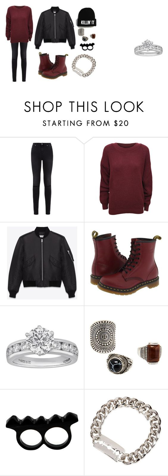 """Evie #13"" by eviewillowmeyer on Polyvore featuring moda, 7 For All Mankind, WearAll, Yves Saint Laurent, Dr. Martens, Tiffany & Co., MANGO, L'Artisan Créateur e McQ by Alexander McQueen"