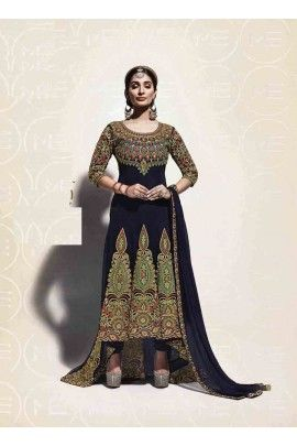 Designer georgette fabric anrkali suit